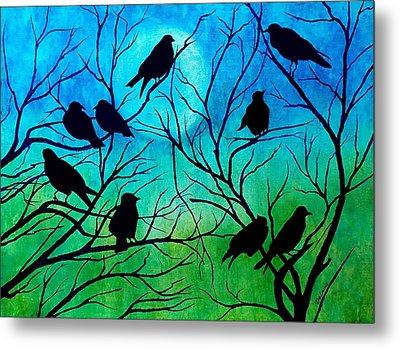 Roosting Birds Metal Print by Susan DeLain