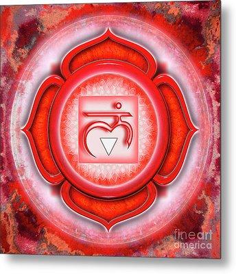 Root Chakra - Series 5 Metal Print by Dirk Czarnota