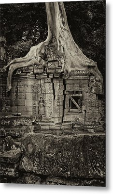 Metal Print featuring the photograph Roots In Ruins 5, Ta Prohm, 2014 by Hitendra SINKAR