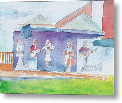 Metal Print featuring the painting Roots Retreat Bluegrass by David Sockrider