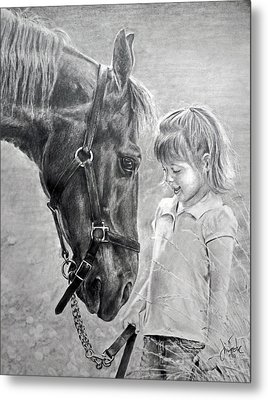 Rooty And Ella Metal Print by James Foster