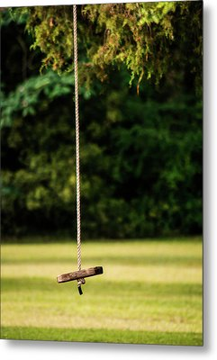 Metal Print featuring the photograph Rope Swing  by Shelby Young