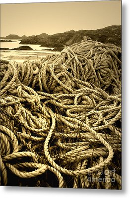 Ropes On Shore Metal Print