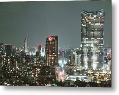 Roppongi From Tokyo Tower Metal Print by Spiraldelight