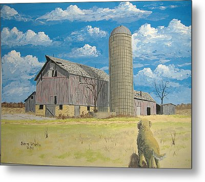 Metal Print featuring the painting Rorabeck Barn by Norm Starks