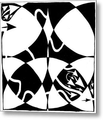 Rorschach Maze Metal Print by Yonatan Frimer Maze Artist