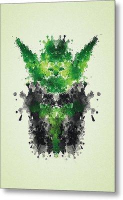 Rorschach Yoda Metal Print by Philipp Rietz
