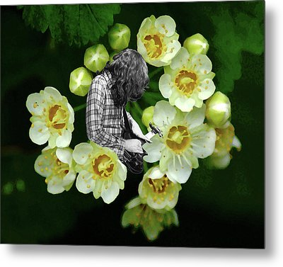 Metal Print featuring the photograph Rory Flower by Ben Upham