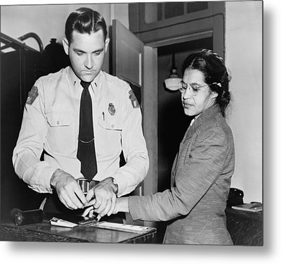 Rosa Parks 1913-2005, Whose Refusal Metal Print by Everett