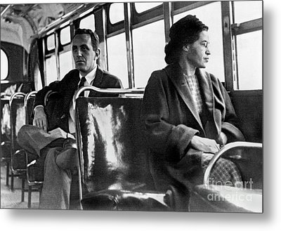 Rosa Parks On The Bus Metal Print
