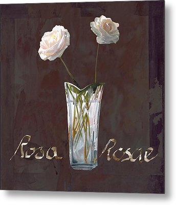 Rosa Rosae Metal Print by Guido Borelli