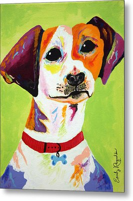 Roscoe The Jack Russell Terrier Metal Print by Emily Reynolds Thompson