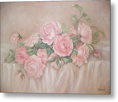 Rose Abundance Painting Metal Print