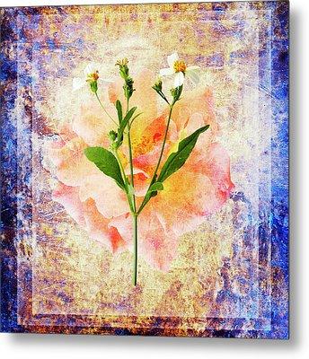 Rose And Wild Flower Metal Print