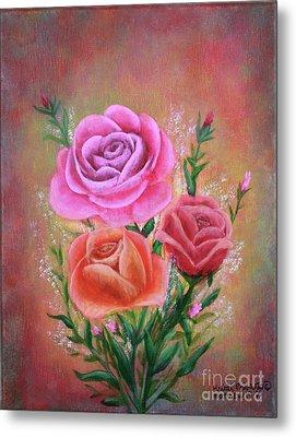 Rose Bouquet Metal Print by Kristi Roberts