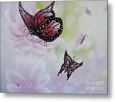Rose Colored Glasses Metal Print by Dianna Lewis