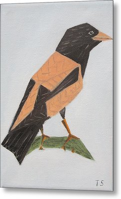 Rose-coloured Starling Metal Print by Tamara Savchenko
