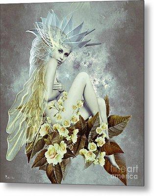 Rose Fairy Metal Print by Ali Oppy