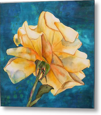Rose From Behind Metal Print