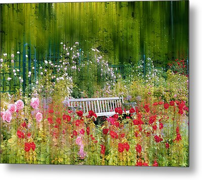 Rose Garden Impressions Metal Print by Jessica Jenney