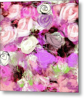 Rose Garden Promise- Art By Linda Woods Metal Print