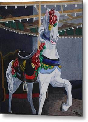 Rose Lead Horse Metal Print