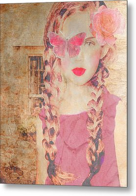Rose Metal Print by Lisa Noneman
