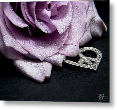Rose Love And Peace Tow Metal Print by Karen Musick
