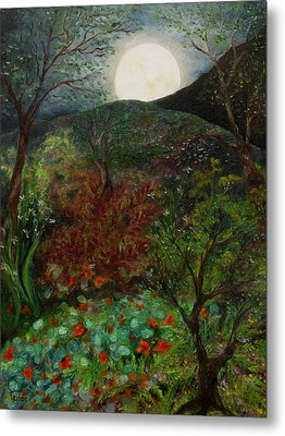 Rose Moon Metal Print by FT McKinstry