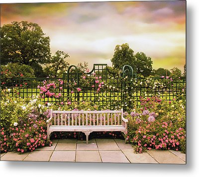 Metal Print featuring the photograph Rose Respite by Jessica Jenney
