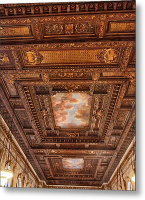 Rose Room Ceiling Metal Print