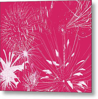 Metal Print featuring the digital art Rose Splash by Methune Hively