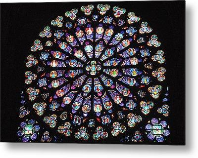 Rose Window Of Notre Dame Paris Metal Print