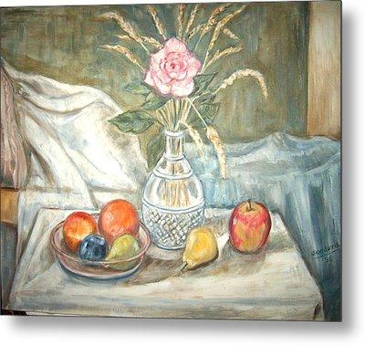 Rose With Fruit Metal Print by Joseph Sandora Jr