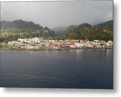 Metal Print featuring the photograph Roseau Dominica by Gary Wonning