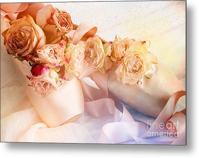 Roses And Dance Shoes Metal Print