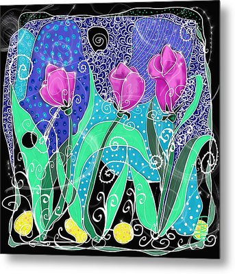 Roses And Lemons Metal Print