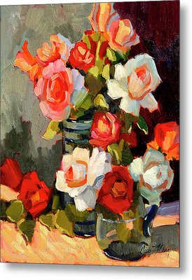 Roses From My Garden Metal Print by Diane McClary