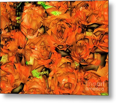 Metal Print featuring the photograph Roses In Abstract 20170325 by Wingsdomain Art and Photography