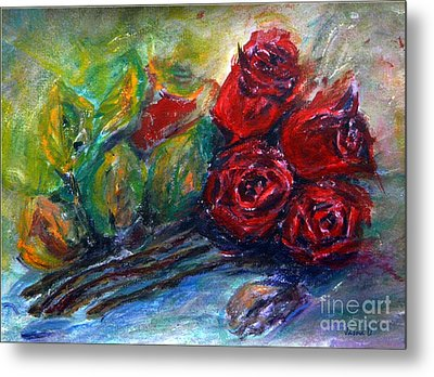 Roses Metal Print by Jasna Dragun