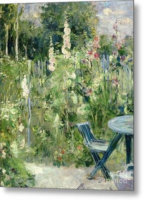 Roses Tremieres Metal Print by Berthe Morisot