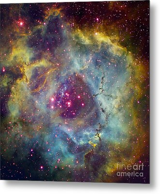 Rosette Nebula Ngc 2244 In Monoceros Metal Print by Filipe Alves