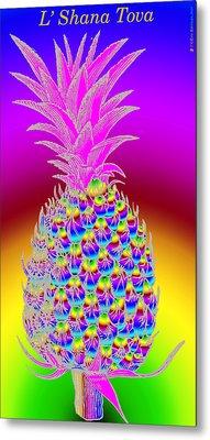 Rosh Hashanah Pineapple Metal Print by Eric Edelman