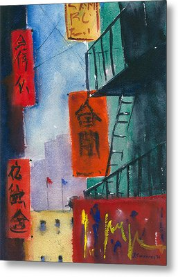 Ross Alley, Chinatown Metal Print by Tom Simmons