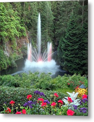 Ross Fountain Metal Print by Betty Buller Whitehead