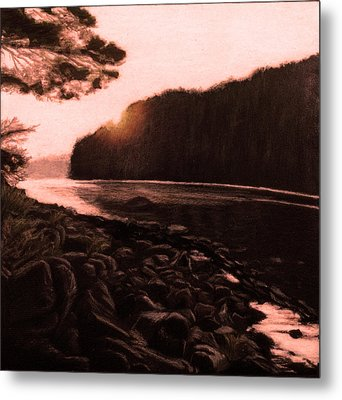 Rosy Glow Of Morning Metal Print by Susan Sarabasha
