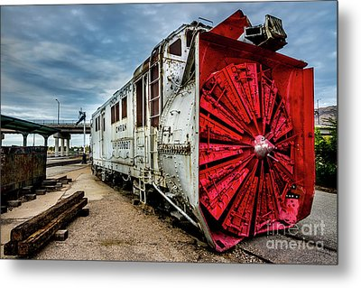 Metal Print featuring the photograph Rotary Snow Plow Vintage Train - Utah by Gary Whitton
