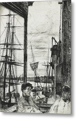 Rotherhithe Metal Print by James Abbott McNeill Whistler