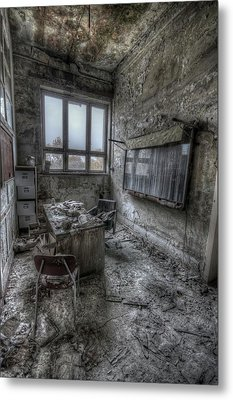 Rotten Office Metal Print by Nathan Wright