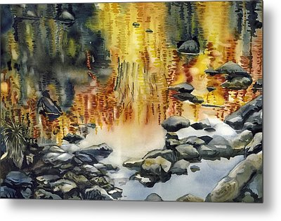 Rouge River Reflection Metal Print by Alfred Ng
